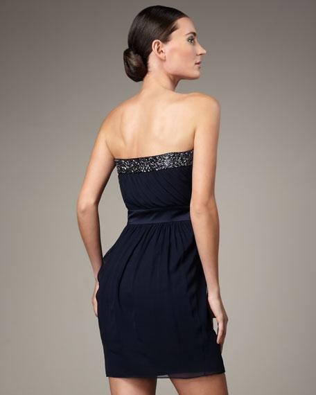 Strapless Bead-Trim Dress