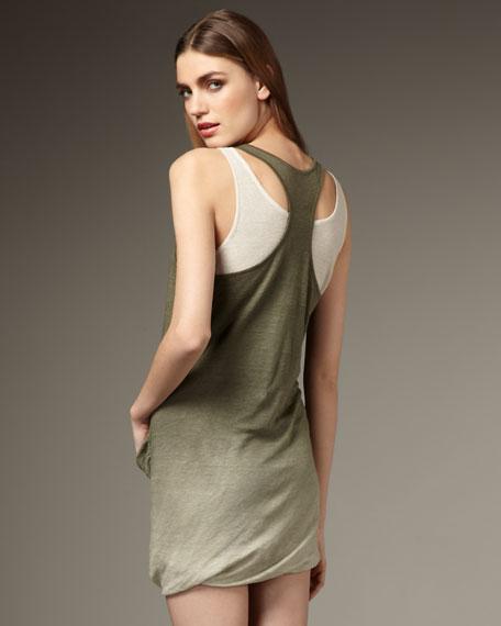Ombre Linen Tank Dress