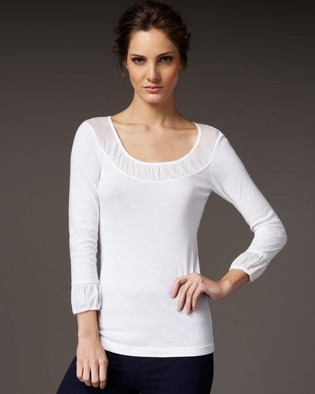 Pleated-Trim Shirt, Women's