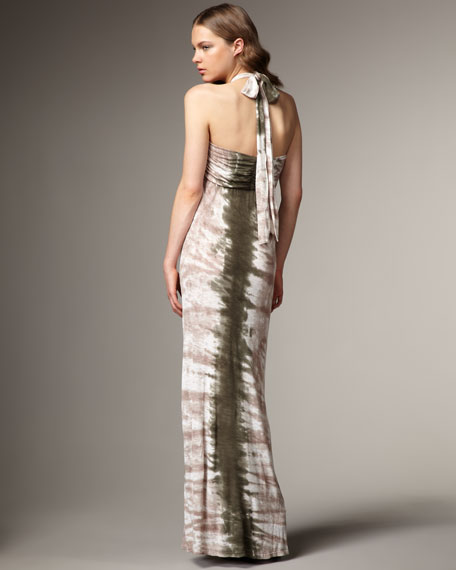 Boardwalk-Stripe Halter Maxi Dress