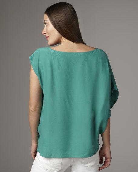 Silk Pleated Top