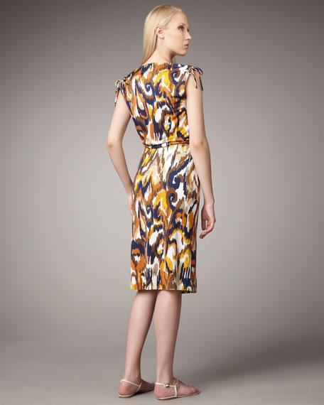 Verda Printed Silk Dress