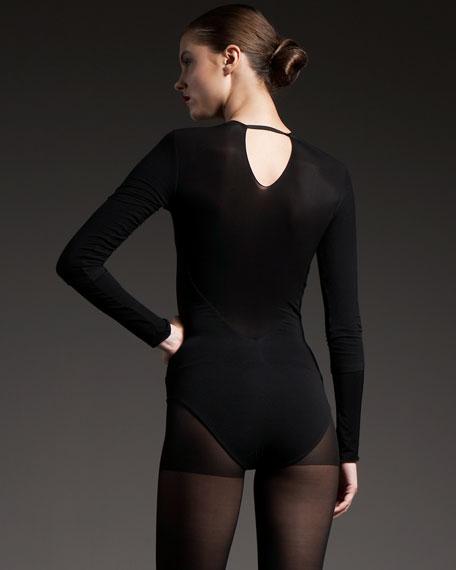 Sheer-Yoke Bodysuit