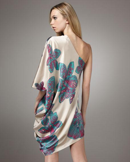 Orchid One-Shoulder Side Drop Dress
