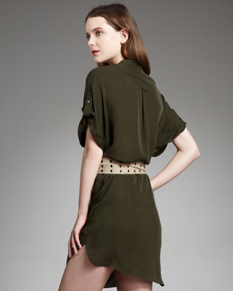 Pocket Dress With Canvas Belt