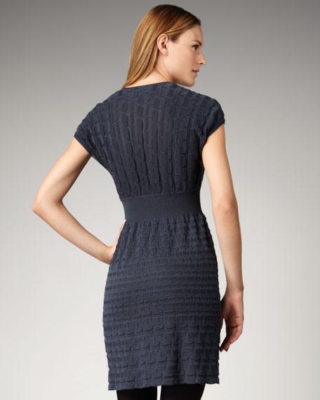 Rib-Weave Cap-Sleeve Dress