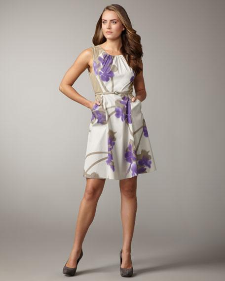 Kemper Belted Floral-Print Dress