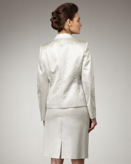 Jacquard Zip-Front Suit