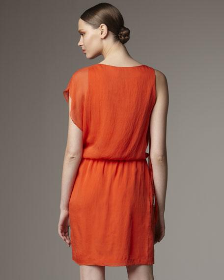 Silk Twist Pleat Dress