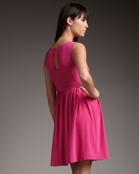 Bead-Neck Georgette Dress