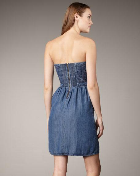 Quilted Denim Dress