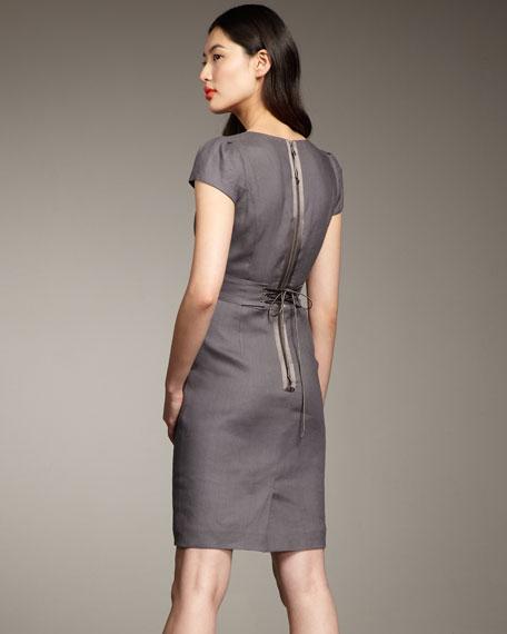 Essential Ruffle-Neck Dress