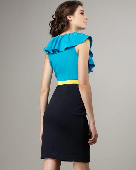 Mallorca Two-Tone Ruffle Dress