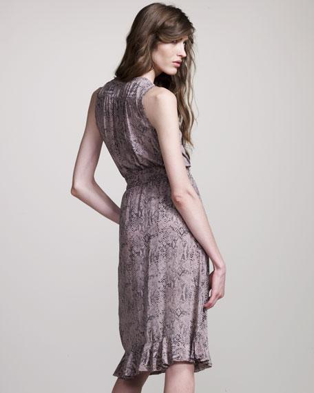Python-Print Wrap Dress