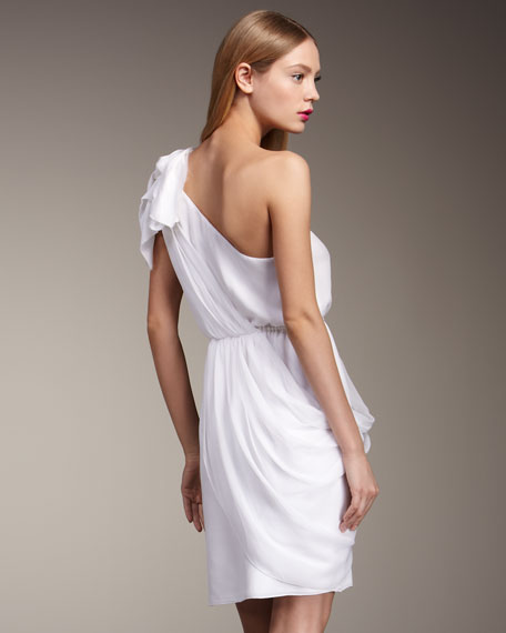 Carmen One-Shoulder Draped Dress