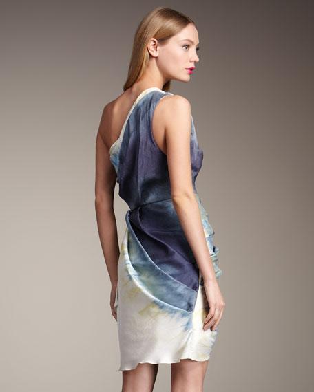 Bree One-Shoulder Wrap Dress