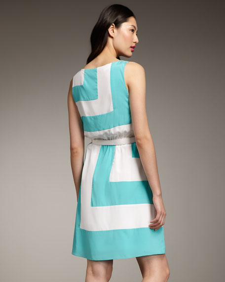 Cody Belted Colorblock Dress
