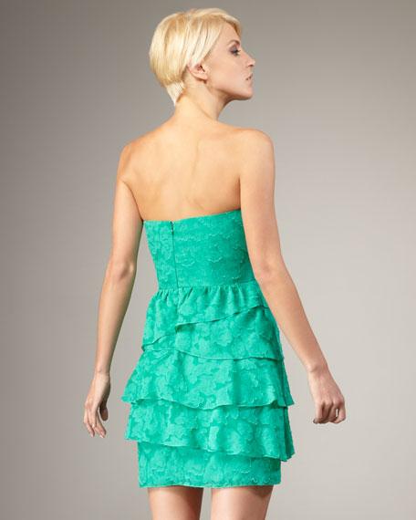 Tiered Strapless Dress