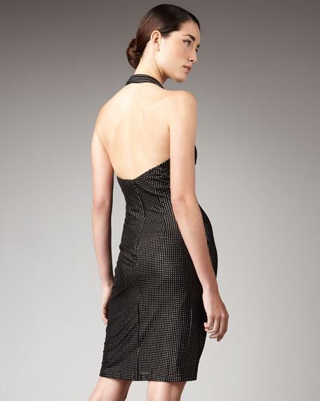 Cowl-Neck Halter Dress