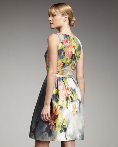 Floral-Print Full-Skirt Dress