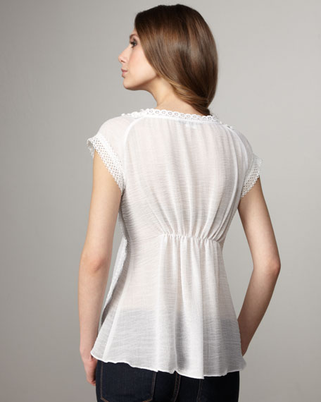 Tousled Top, White
