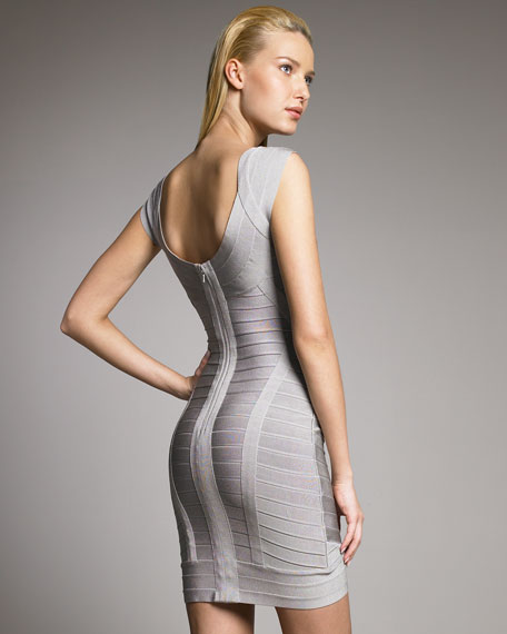 Cross-Bust Mini Bandage Dress
