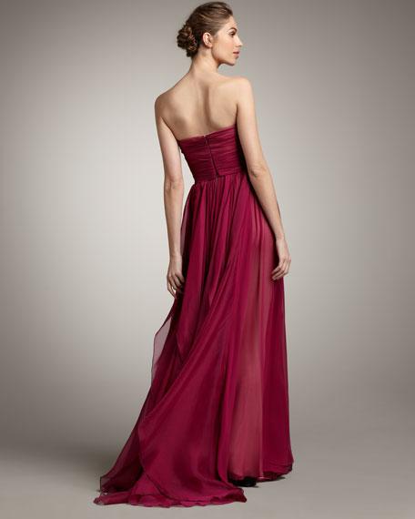 Strapless Full-Skirt Gown