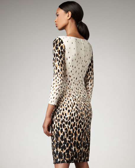 Animal-Print Surplice Dress