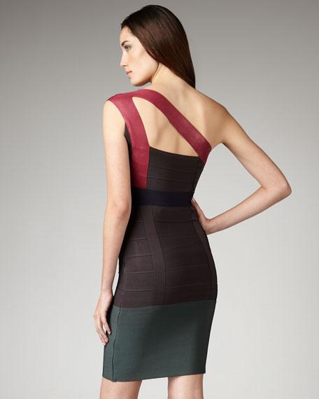 Rose-Shoulder Bandage Dress