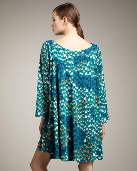 Bell-Sleeve Cape Dress