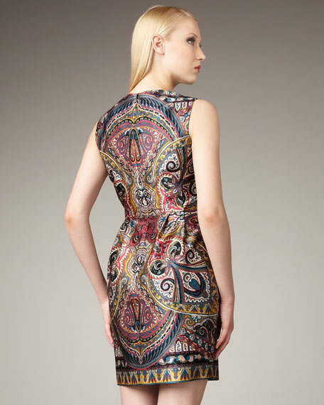 Gotham Stakes Printed Dress