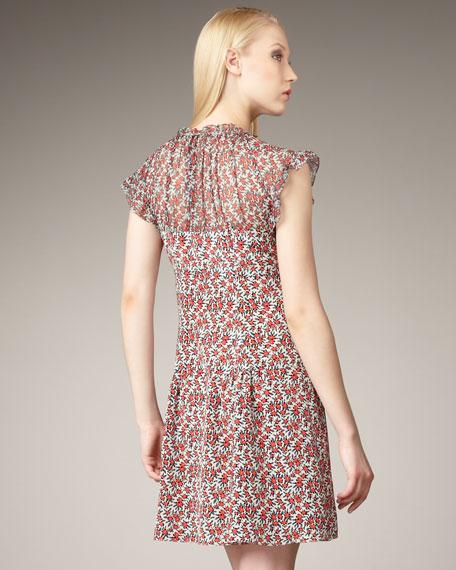 Whirl Away Printed Dress