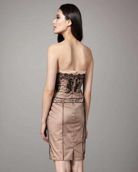 Strapless Structured Dress