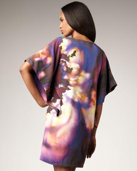 Abstract-Print Shift Dress