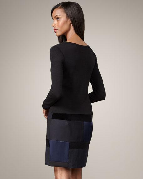 Patchwork-Skirt Combo Dress