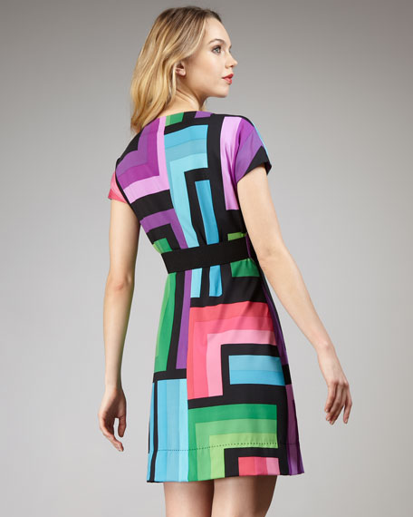 Colorblock Wrap Dress