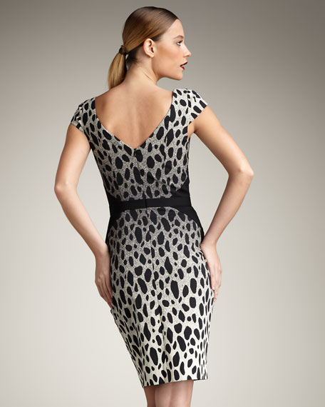 Manet Ombre Leopard-Print Dress