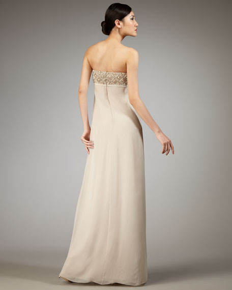 Emma Strapless Bow-Front Gown