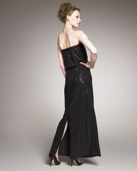 Beaded Strapless Maxi Dress