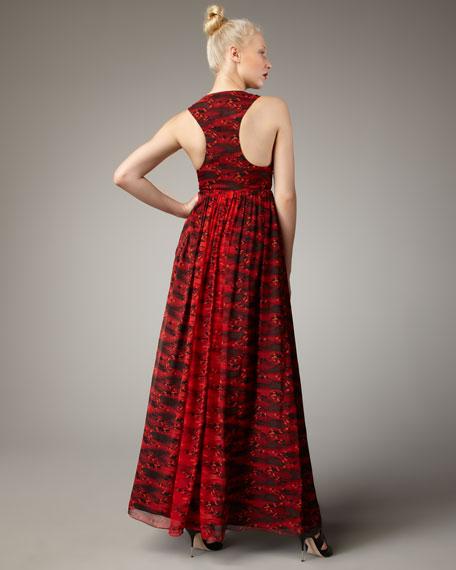 Pirouette Racerback Chiffon Gown