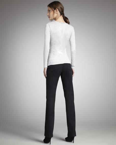 Faith Straight-Leg Jeans, Black