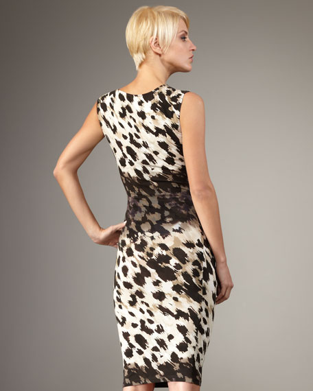 Animal-Print Knotted Dress