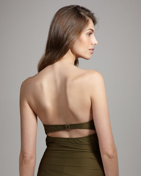 Ruched Strapless One-Piece