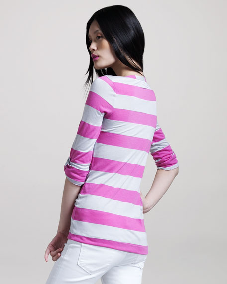 Rugby-Striped Henley Top