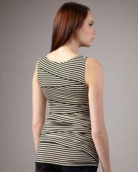 Crisscross Stripe Top