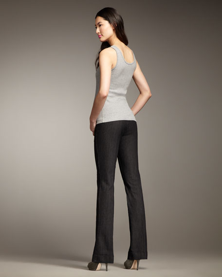Michelle Black Denim Trousers