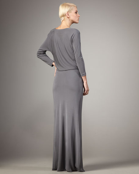 Cowl-Neck Gown