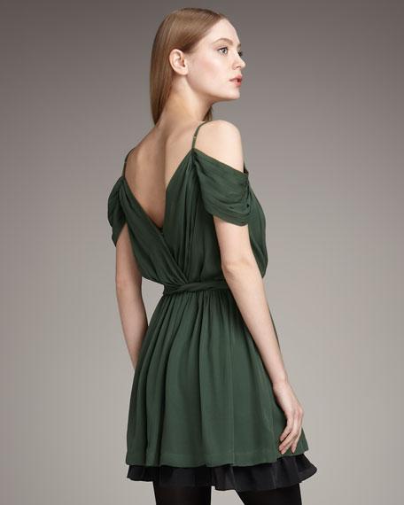 Leslie Shoulder-Cutout Dress