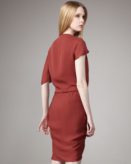 Asymmetric Draped Dress