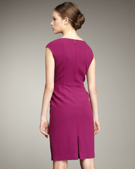 Knotted-Shoulder Dress